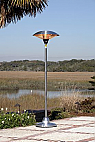 Fire Sense Stainless Steel Floor Standing Round Halogen Patio Heater