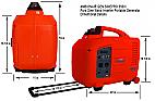 AMBIONAIR GEN SINEPRO i3500 INVERTER GAS GENERATOR LIGHT WEIGHT CAMPING RV