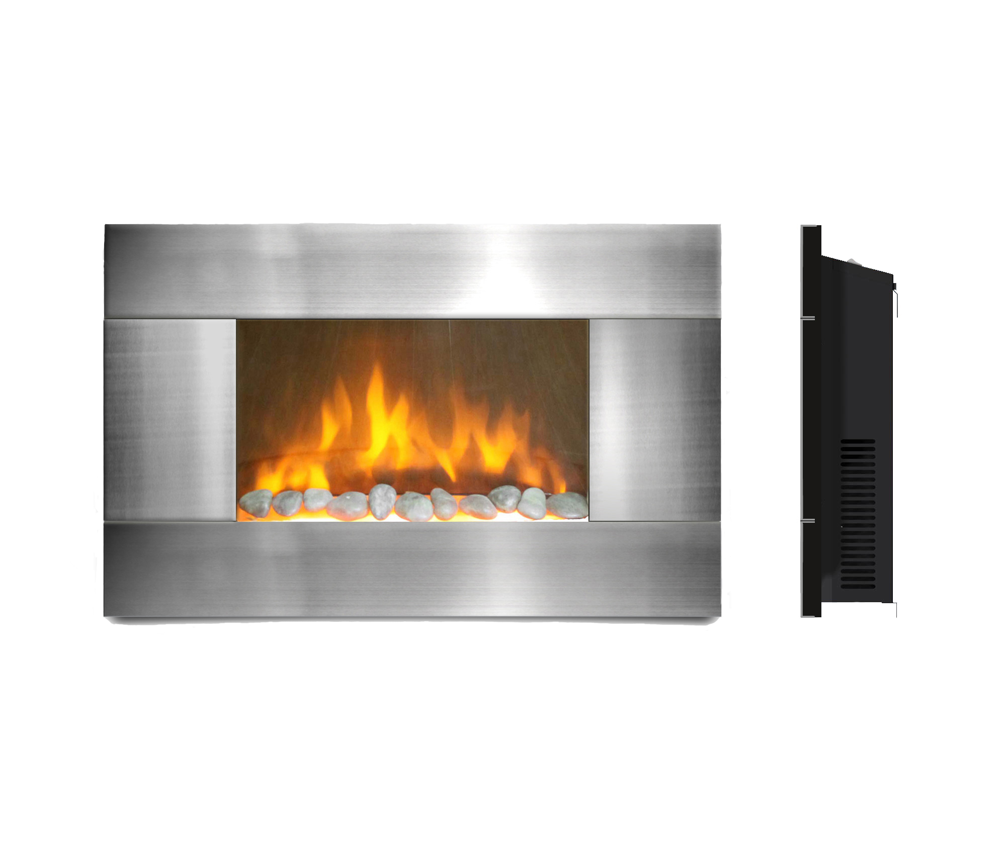 ambionair flame led wall mounted fireplace ef 1510 sl home