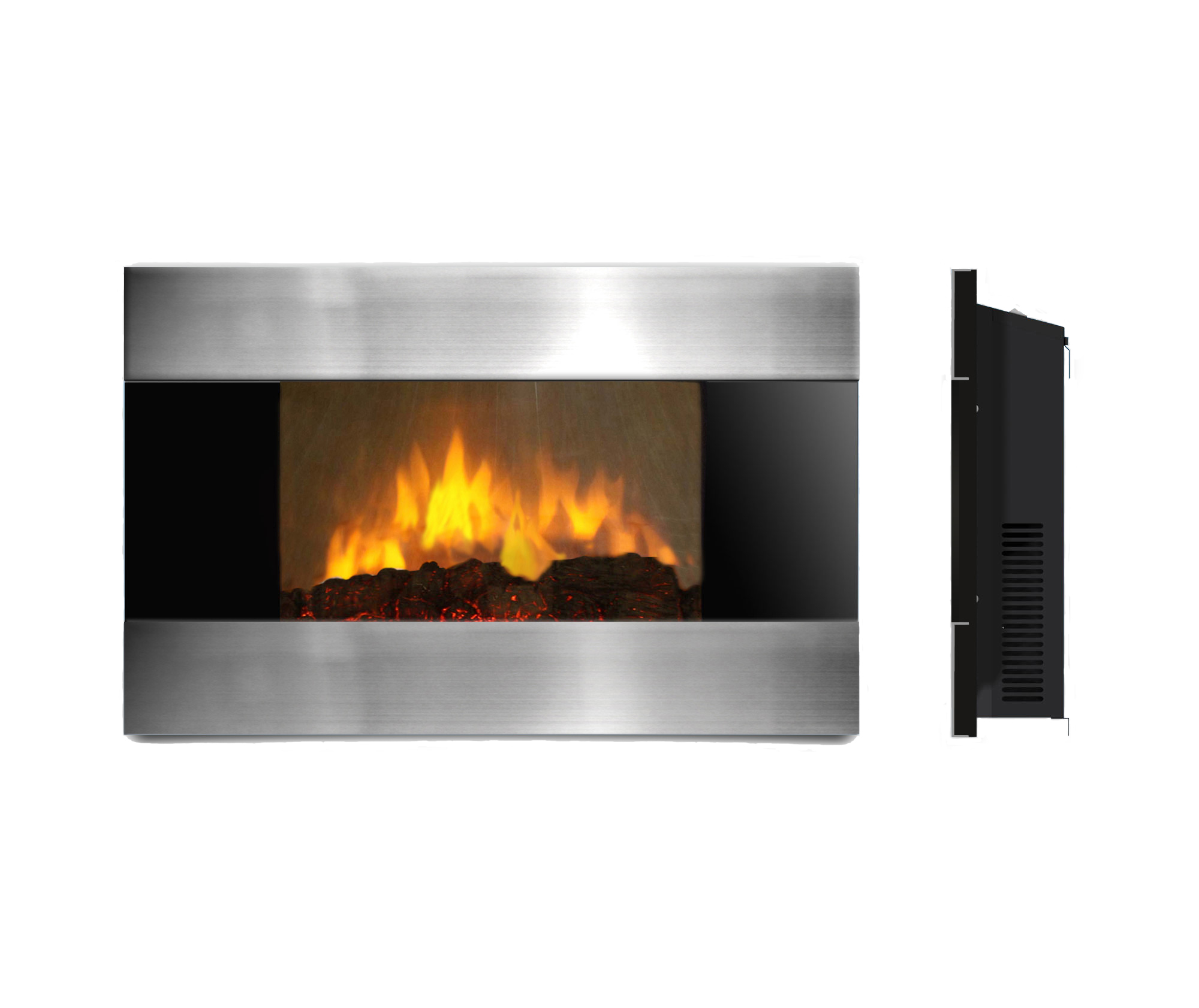 ambionair flame led wall mounted fireplace ef 1510 sl