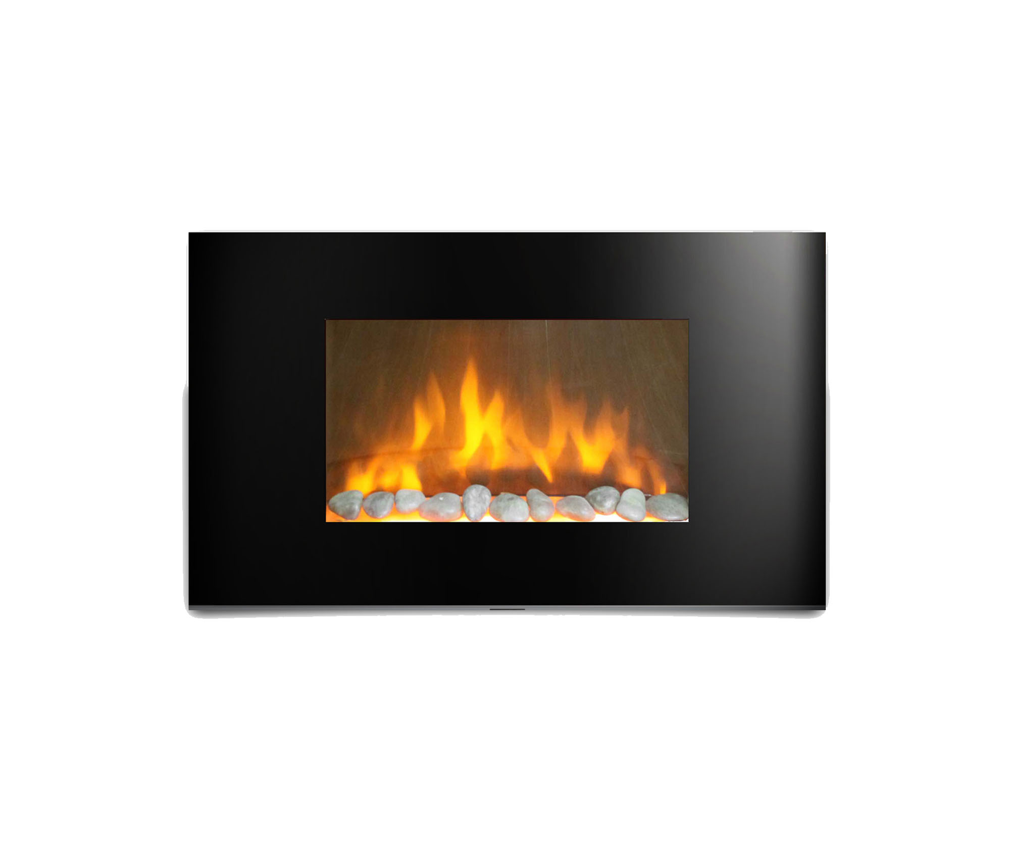 ventless electric pros wall linear black fireplace inch products