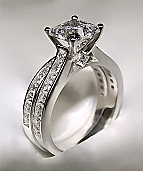 3.72Ct Princess Cut Engagement Ring & Matching Wedding Band 14K Solid White Gold