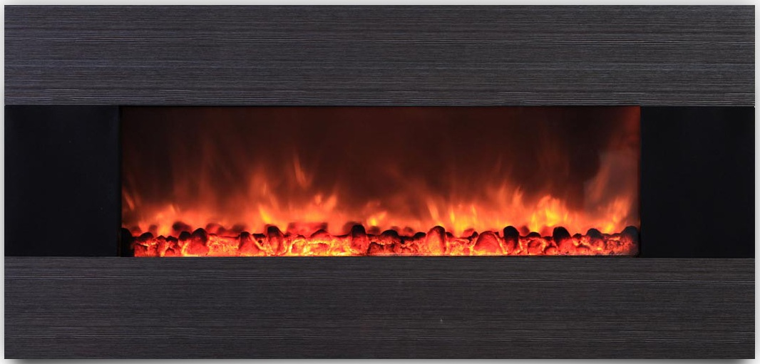 AmbionAir Flame 56 Electric Wall Mount Fireplace EF 1100 YGT