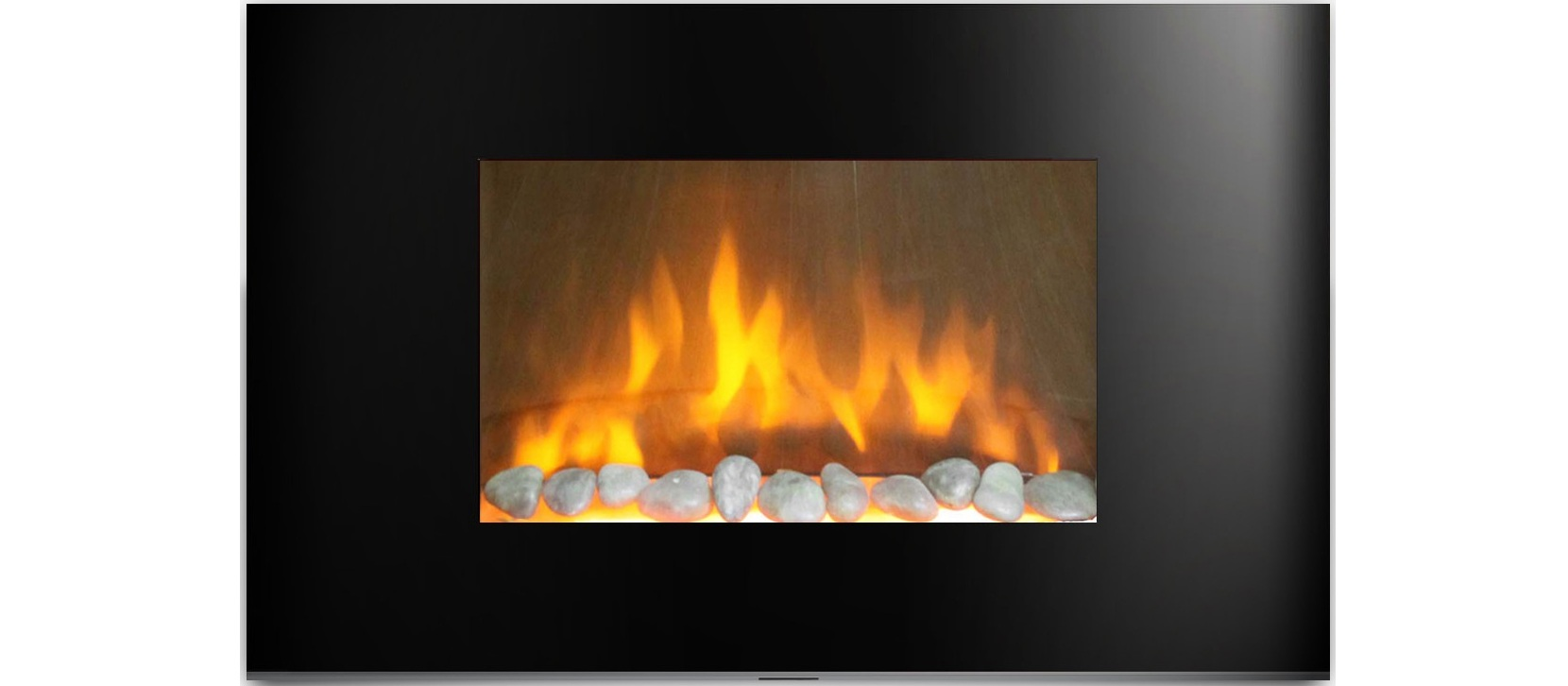 AmbionAir Flame 36 Electric Wall Mounted Fireplace EF 1510 BP