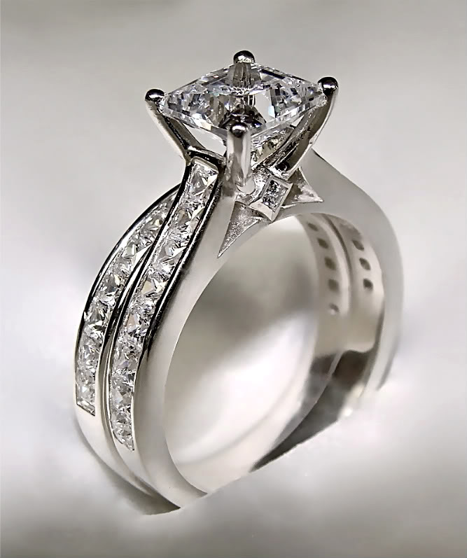 Matching Engagement And Wedding Rings