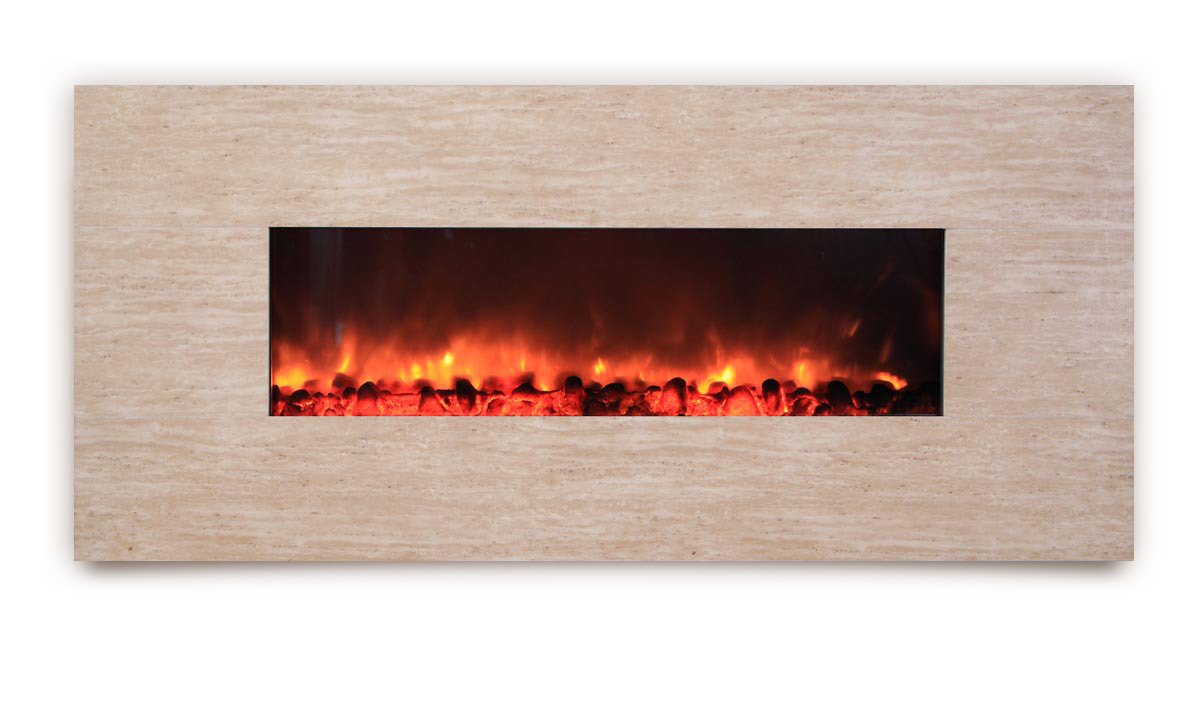 AMBIONAIR FLAME - Wall-Mounted Fireplace (EF-1100 DBG)