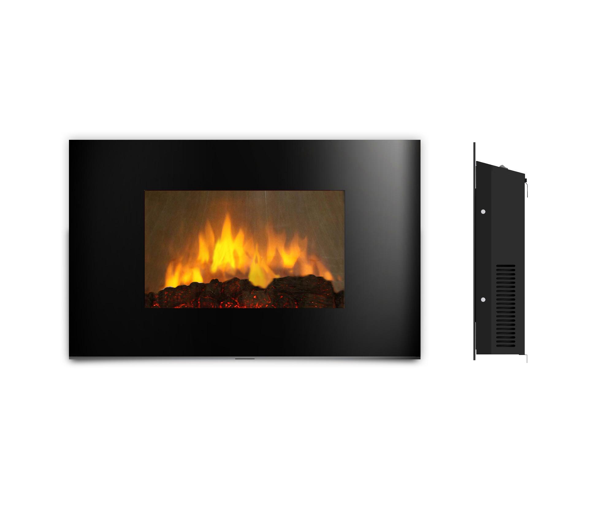 AMBIONAIR FLAME - LED Wall-Mounted Fireplace (EF-1510 BGL)