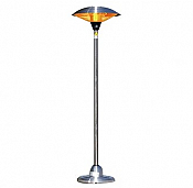Fire Sense Stainless Steel Floor Standing Round Halogen Patio Heater - 60402