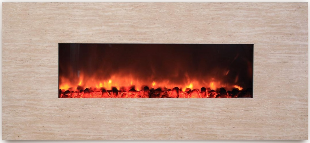 AmbionAir Flame 58 Electric Wall Mount Fireplace EF 1100 DBG