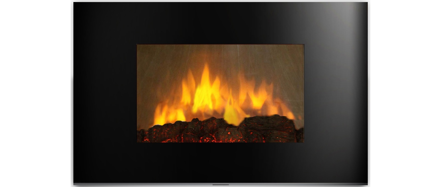 AmbionAir Flame Electric Wall Mount Fireplace