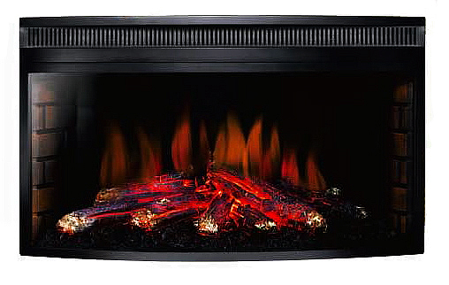 AmbionAir Flame 33 Inch Electric Fireplace Insert EF633W